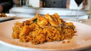 Paella de boquerones y coliflor | restaurantes en Oliva