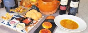 Puchero tradicional al horno de leña en restaurante Ca fran de Oliva