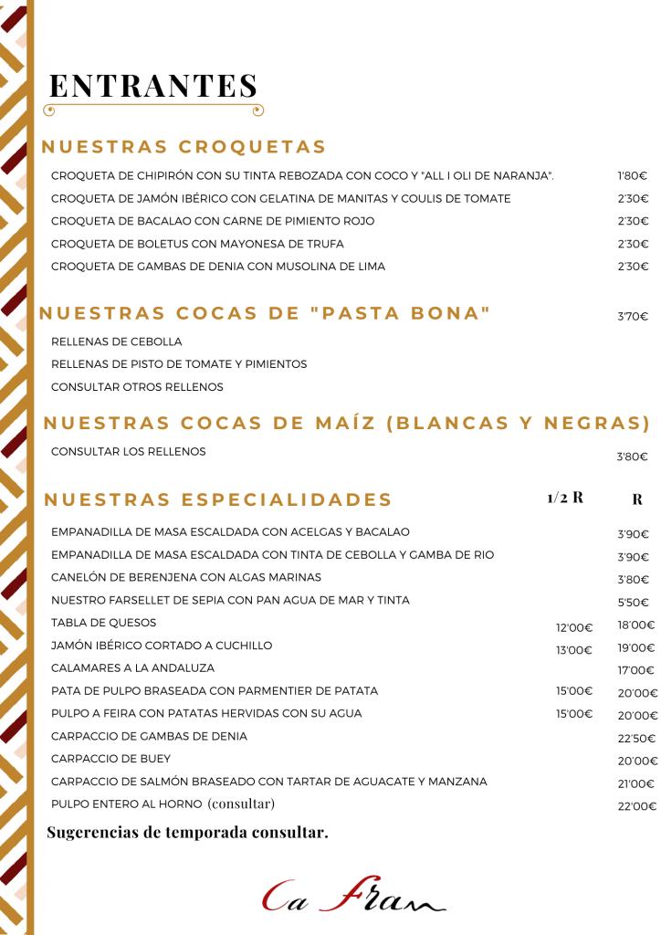 restaurantes en Oliva valencia